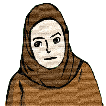 Hijab - courtesy Wikimedia, modified by myself